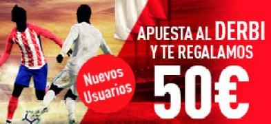 Sportium Apuesta al Atlético - R. Madrid y consigue 50€