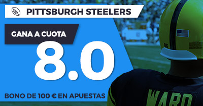 Supercuota Paston NFL - Pittsburgh Steelers gana a cuota 8.0