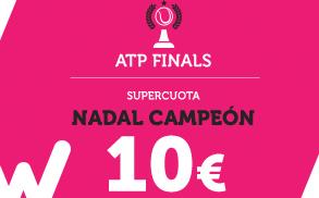Wanabet Supercuota ATP Finals Nadal Campeon a cuota 10