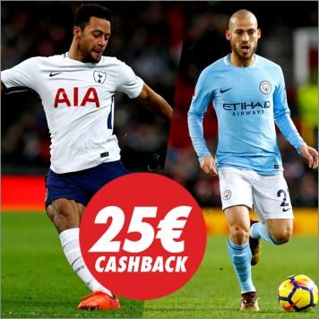 Circus Manchester City vs Tottenham devolución hasta 25€