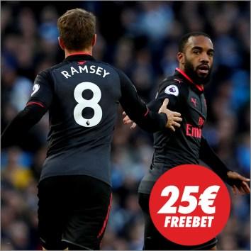 Circus Premier League Arsenal vs Manchester Untd 25€ freebet