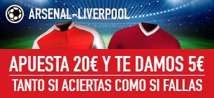 Sportium Arsenal - Liverpool Apuesta 20€ y te damos 5€