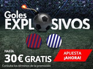 Suertia Hasta 30€ gratis apostando al Barcelona - Deportivo