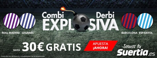 Suertia Combi explosiva Copa del Rey hasta 30€ gratis