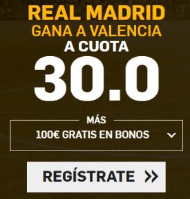 Supercuota Betfair la Liga Real Madrid - Valencia