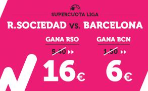 Supercuota Wanabet la Liga R. Sociedad - Barcelona