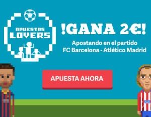 Paf gana 2€ apostando al Partido FC Barcelona - Atlético Madrid