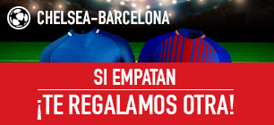 Sportium Champions League Chelsea - Barcelona si empatan te regalamos otra