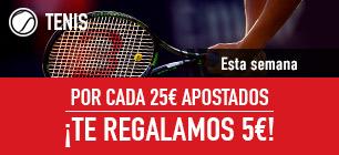 Sportium Tenis por cada 25€ apostados te regalamos 5€