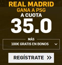 Supercuota Betfair Real Madrid - PSG