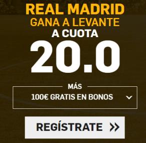Supercuota Betfair la Liga Real Madrid Levante