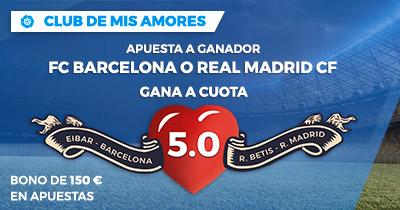 Supercuota Paston la Liga FC Barcelona o R. Madrid