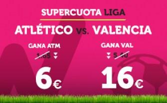 Supercuota Wanabet la Liga Atlético - Valencia