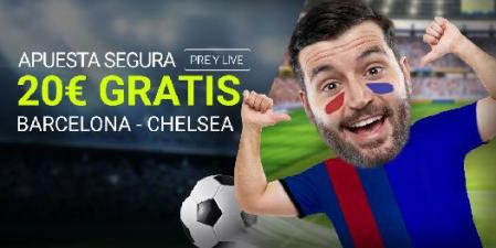 Luckia Chelsea - Barcelona apuesta segura 20€ gratis