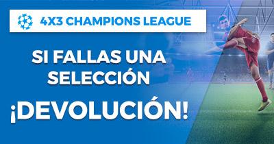 Paston Champions League 4x3 Combinadas si fallas una devolución