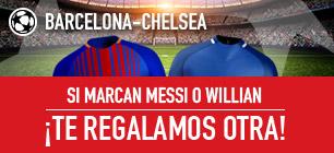 Sportium Barcelona - Chelsea si marcan messi o wllian regalamos otra!