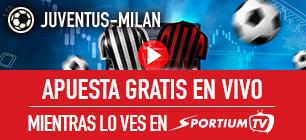 Noticias Apuestas, Sportium Juventus - Milan apuesta gratis en vivo