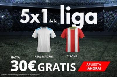 noticias apuestas Suertia la Liga 5x1 hasta 30€ gratis en Real Madrid - Girona