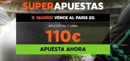 Supercuota 888sport Champions League PSG - Real Madrid