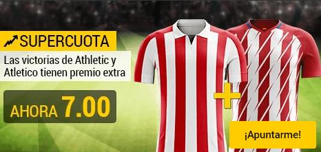 Supercuota Bwin Athletic y Atlético ganan cuota 7.00