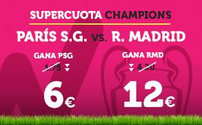 Supercuota Wanabet Champions Paris SG vs R. Madrid