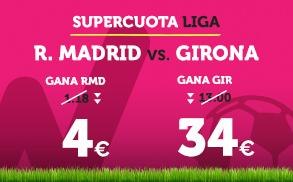Supercuota Wanabet la Liga R. Madrid vs Girona
