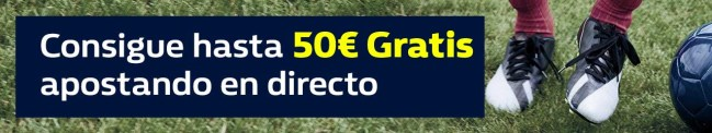 Williamhill 50€ gratis en partidos jueves 8 de marzo