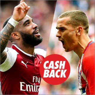 Circus Europa League Arsenal vs Atlético Cashback