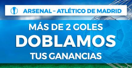 Noticias Apuestas Paston Europa League Arsenal - Atlético de Madrid más de 2 goles doblamos tus ganancias