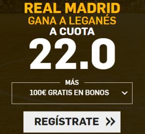 Noticias apuestas Supercuota Betfair la Liga Real Madrid - Leganés