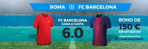 Noticias Apuestas Supercuota Paston Champions Roma - FC Barcelona