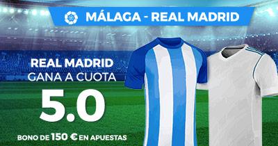 Noticias Apuestas Supercuota Paston la Liga: Malaga - Real Madrid