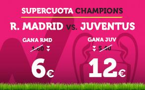 noticias apuestas Supercuota Wanabet Champions: R.Madrid  vs Juventus