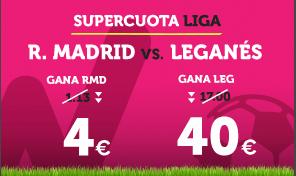 noticias apuestas Supercuota Wanabet la Liga R. Madrid vs Leganes