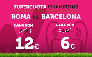 noticias apuestas Supercuota Wanabet Champions: Roma - Barcelona