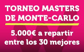 Wanabet Tenis Torneo Masters de Monte Carlo 5.000€ a repartir