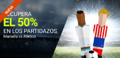 noticias apuestas Luckia Marsella vs Atlético recupera el 50%