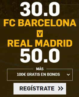 noticias apuestas Supercuota Betfair el Clasico FC Barcelona vs Real Madrid