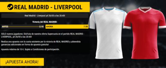 noticias apuestas Supercuota Bwin Champions League Real Madrid vs Liverpool