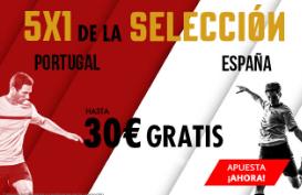 noticias apuestas Suertia 5x1 Portugal vs España hasta 30€ gratis