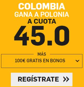 noticias apuestas Supercuota Betfair Colombia - Polonia