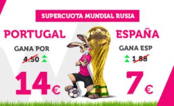noticias apuestas Supercuota Wanabet Mundial Portugal - España