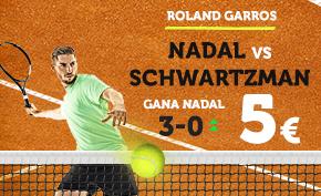 noticias apuestas Supercuota Wanabet Roland Garros Nadal vs Schwartzman
