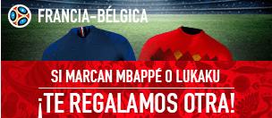Sportium Mundial Francia - Bélgima si marcan Mbappe o Lukaku te regalamos otra!