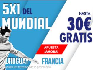 Suertia Mundial Uruguay - Francia hasta 30€ gratis