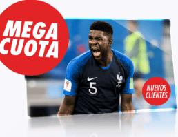Supercuota Circus Francia vs Croacia apuesta 10€ gana 50€