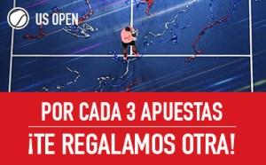 Promo US Open: por cada 3 apuestas ¡te damos otra! en Sportium