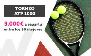 Torneo ATP 1000 5.000€ a repartir entre los mejores de Wanabet