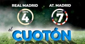 El Cuoton R.Madrid v At Madrid cuotas 4 y 7 solo en Paston