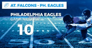 Megacuota 10 para Philadelphia Eagles en Paston